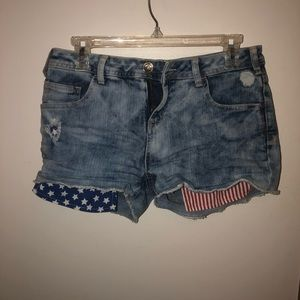 Red White and Blue pocket Shorts